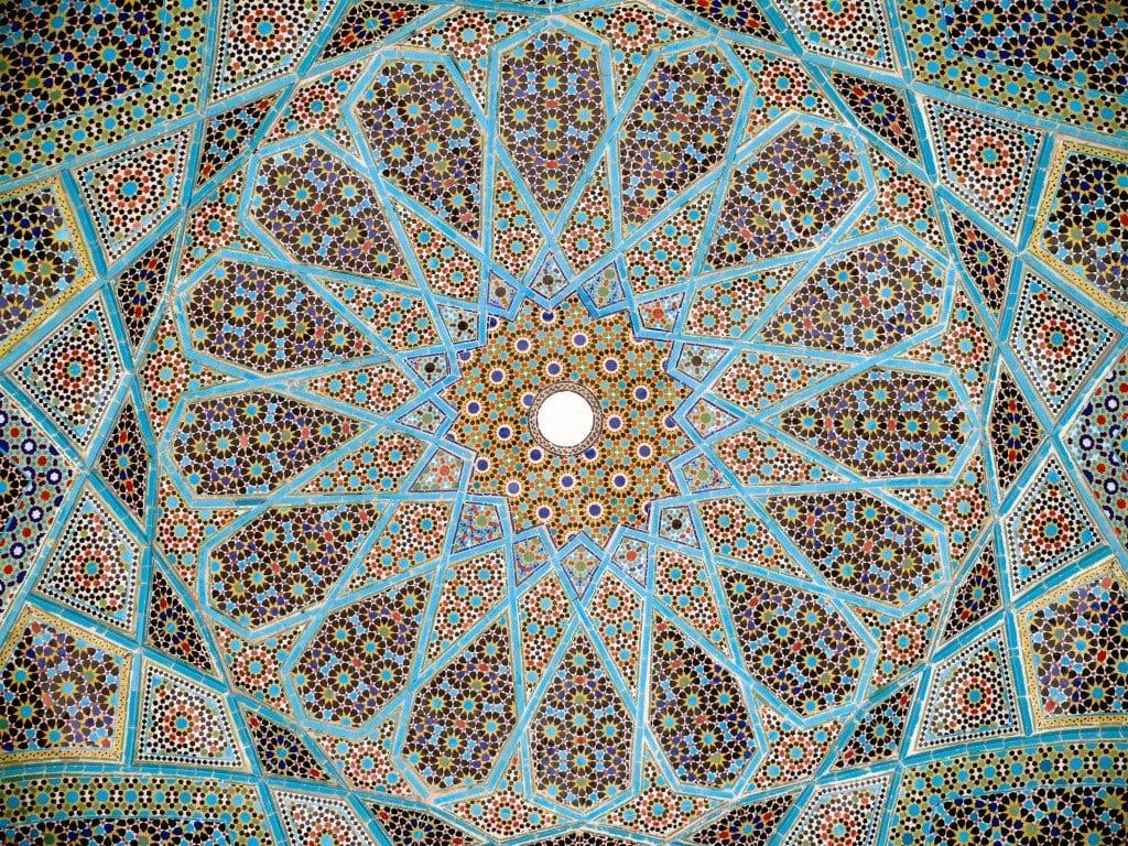 Mosaico sul soffitto della Tomba di Hafez, a Shiraz