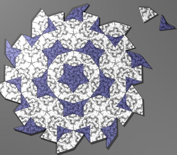 Freccia ed aquilone, la più famosa tassellazione di Penrose