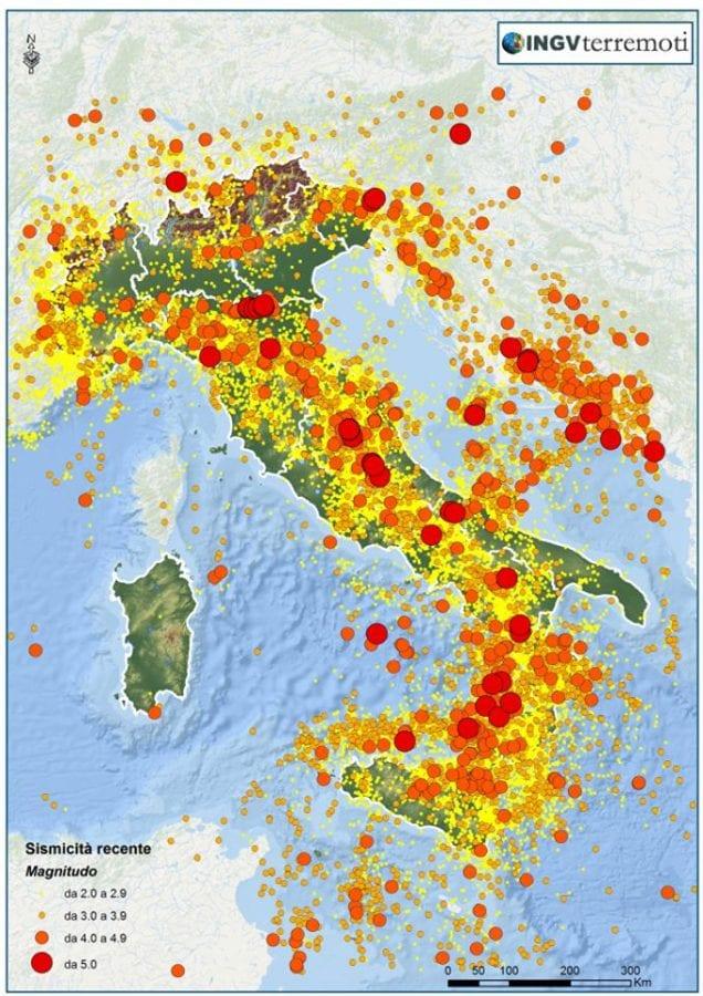 aree montuose e nelle zone vulcaniche