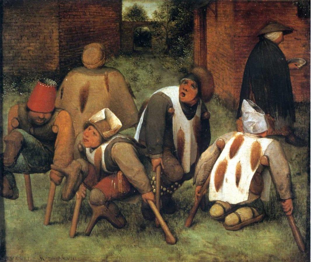 """""""The beggars"""" 1568 di Pieter Bruegel (è stato ipotizzato che le menomazioni negli arti raffigurate nel dipinto siano imputabili a casi di ergotismo - segale cornuta-)"""