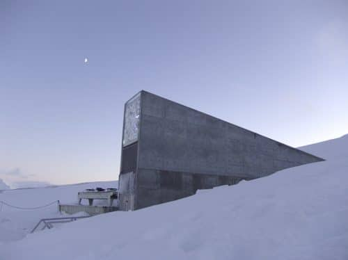 Ecco come appare l'ingresso della Global Seed Vault nel gelo delle isole Svalbard