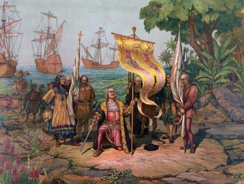 Colombo prende possesso del Nuovo Mondo, L. Prang; Company, 1893. Libreria del Congresso