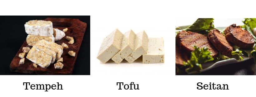 tempeh tofu e seitan