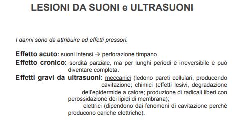 lesioni da suoni e ultrasuoni