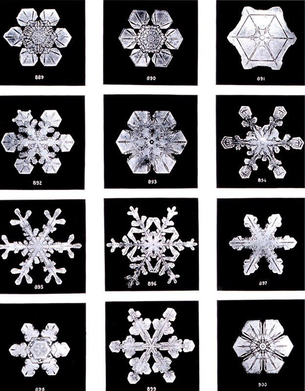 Fotografie di fiocchi di neve