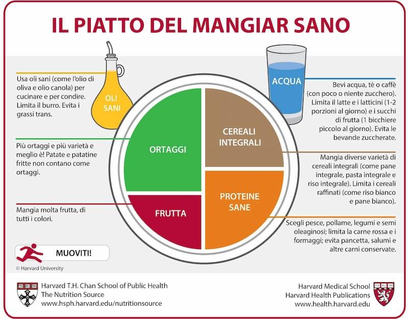 piatto del mangiar sano
